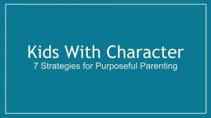 Kids With Character